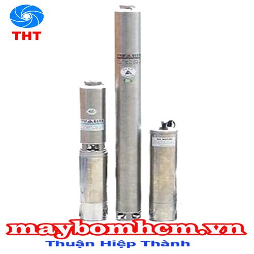 Máy bơm giếng khoan hút sâu không sử dụng tụ điện  NTP SWSHS25-51.1 26 1.5HP